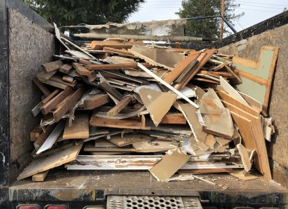 Bye Junk can haul remodel debris