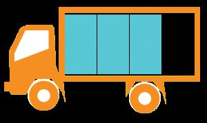 Truck Icon Three Quarters Full