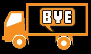 Bye Junk Logo Icon Truck