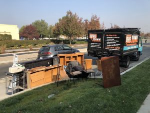 image of junk removal in livermore with items left on curb