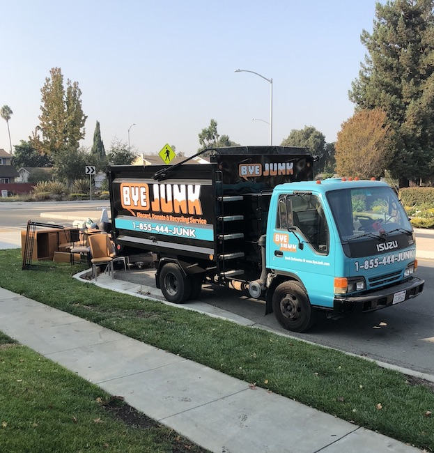 Image of a truck doing junk removal in concord, ca by Bye Junk