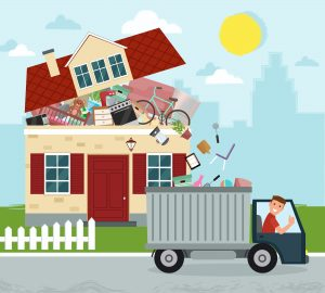 illustraition of junk removal pick up in san leandro, ca