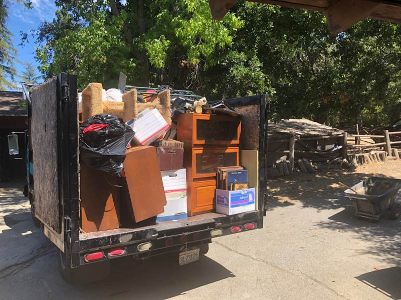 Junk Removal In Moraga truck full from residential job