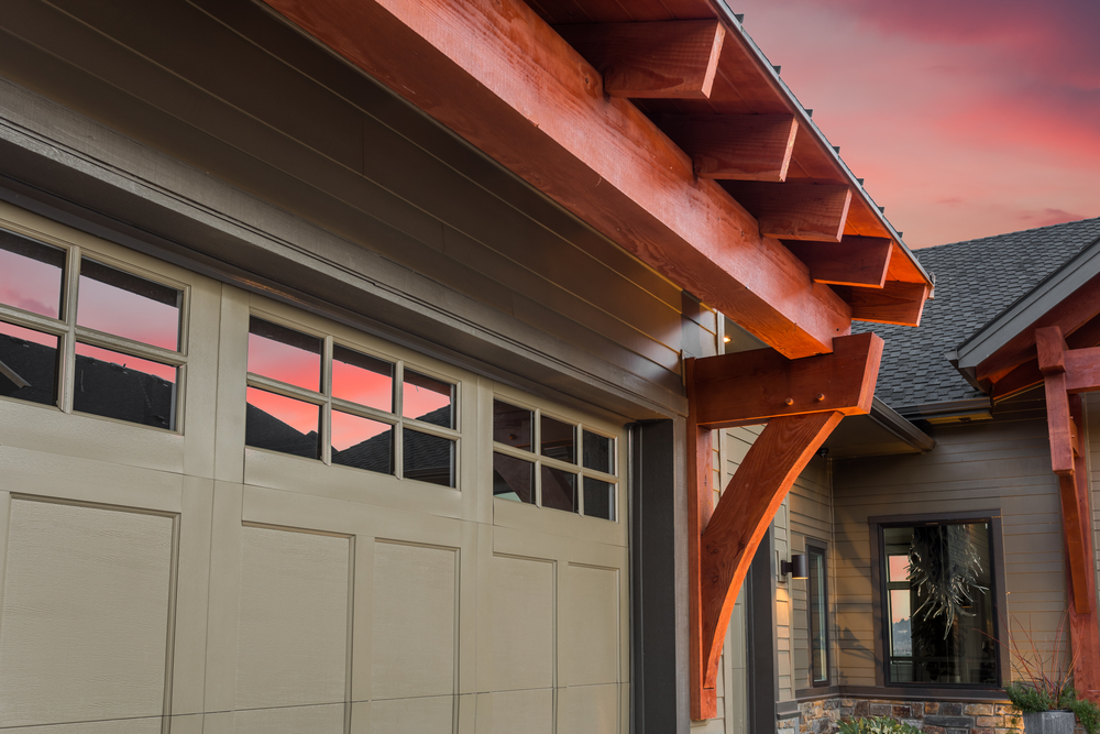 exterior of newly remodeled garage